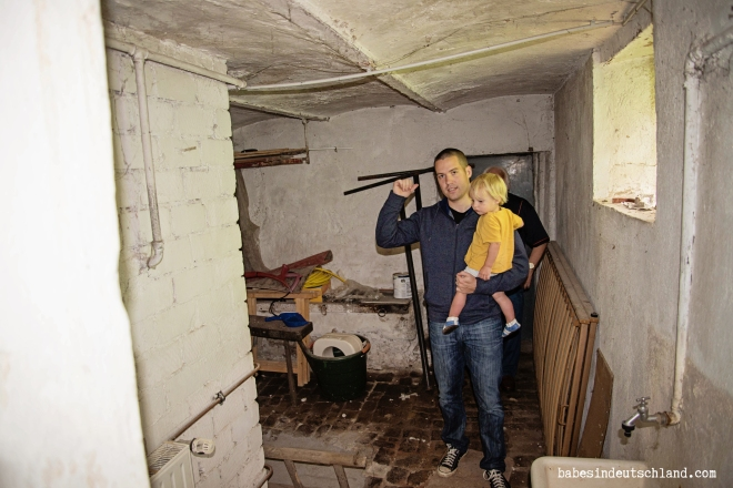 We saw several scary basements, (and a couple scary lofts/garages/attics)  this one takes the cake though.