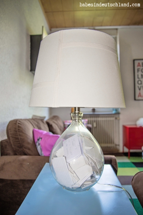Glue magnets to a lamp and stick it to a metal surface to prevent kids from knocking it off the table!