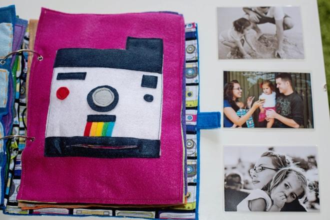 Babes in Deutschland, polaroid camera quiet book page