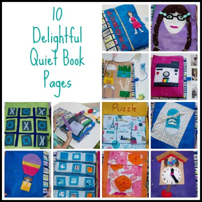 Such a darling quiet book, so many great ideas here!