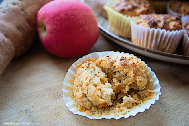Babes in Deutschland, Apple Sweet Potato Muffins